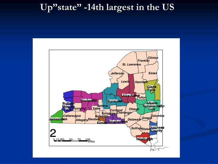 "Up""state"" -14th largest in the US"