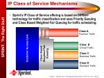 ip class of service mechanisms