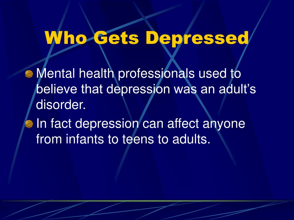 Who Gets Depressed