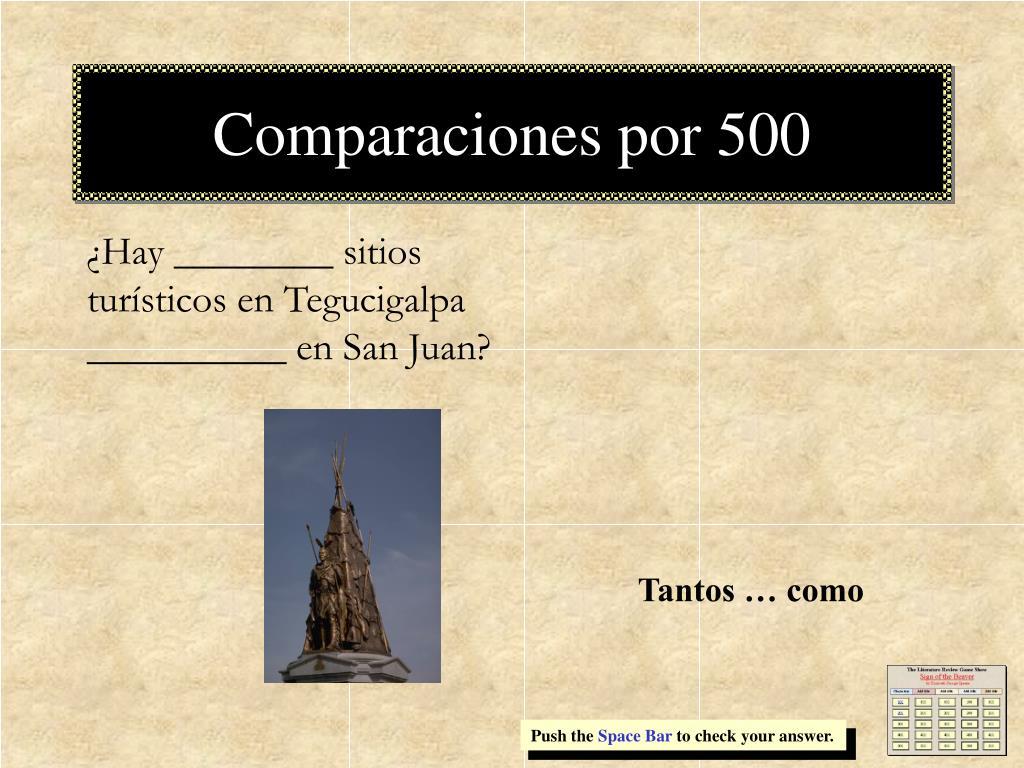 Comparaciones por 500