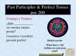 past participles perfect tenses por 200
