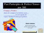 past participles perfect tenses por 300
