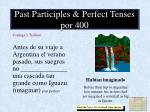past participles perfect tenses por 400