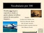 vocabulario por 300