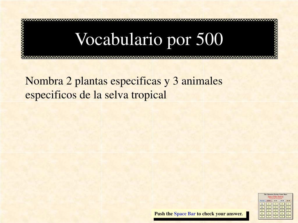 Vocabulario por 500