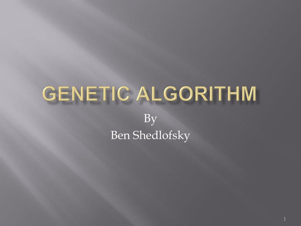 genetic algorithm l.