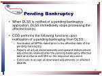 pending bankruptcy
