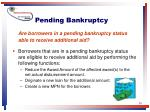 pending bankruptcy30