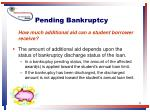 pending bankruptcy31