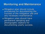 monitoring and maintenance