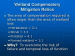 wetland compensatory mitigation ratios
