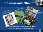 a community mixer