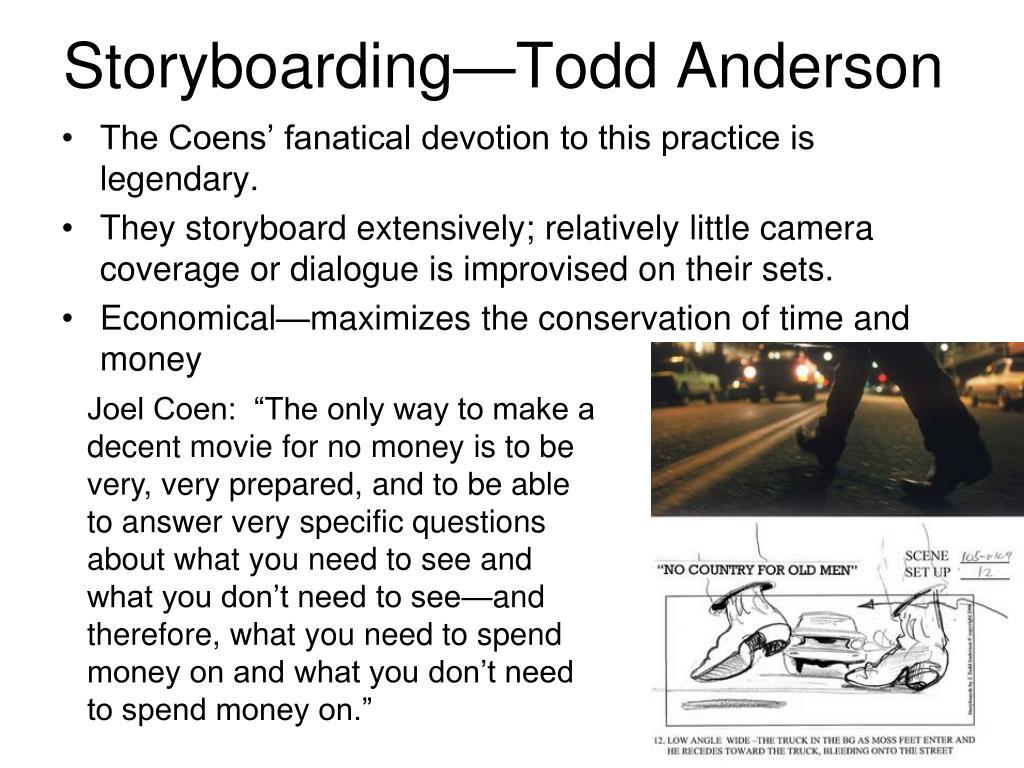 Storyboarding—Todd Anderson