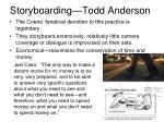storyboarding todd anderson