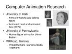 computer animation research22