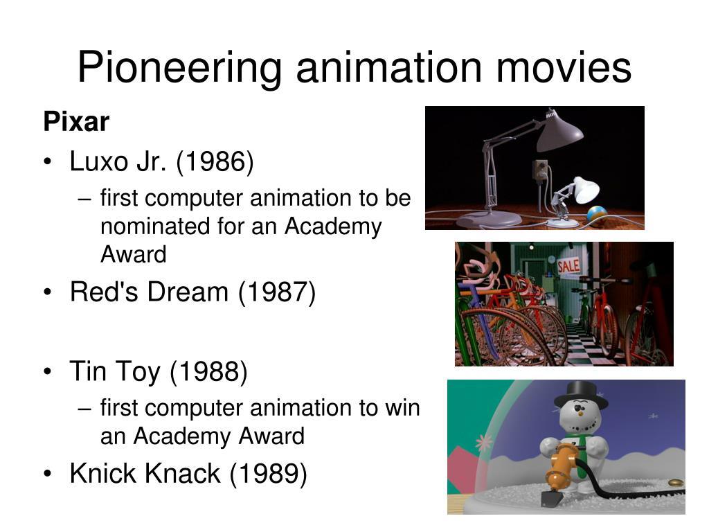 Pioneering animation movies
