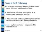 camera path following