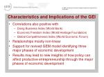 characteristics and implications of the gei
