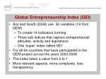 global entrepreneurship index gei27