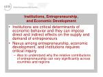 institutions entrepreneurship and economic development