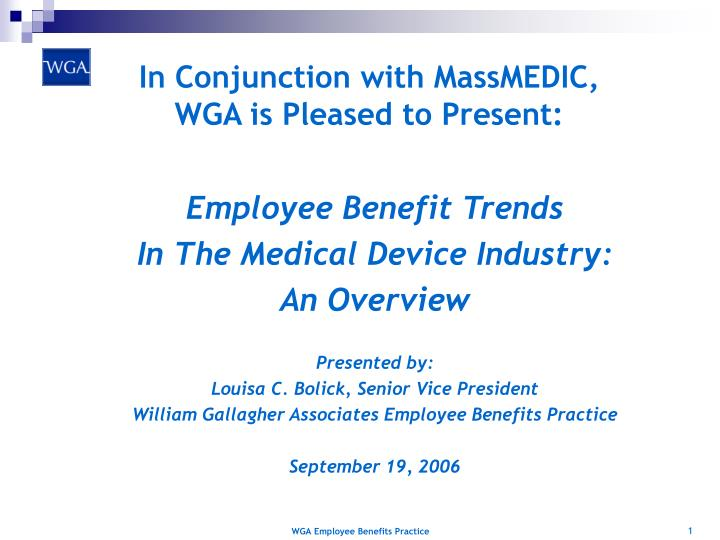 In conjunction with massmedic wga is pleased to present