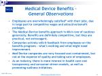 medical device benefits general observations