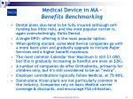 medical device in ma benefits benchmarking10
