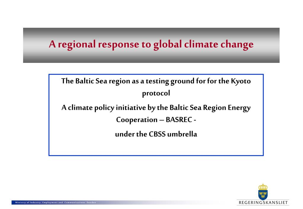 a regional response to global climate change l.
