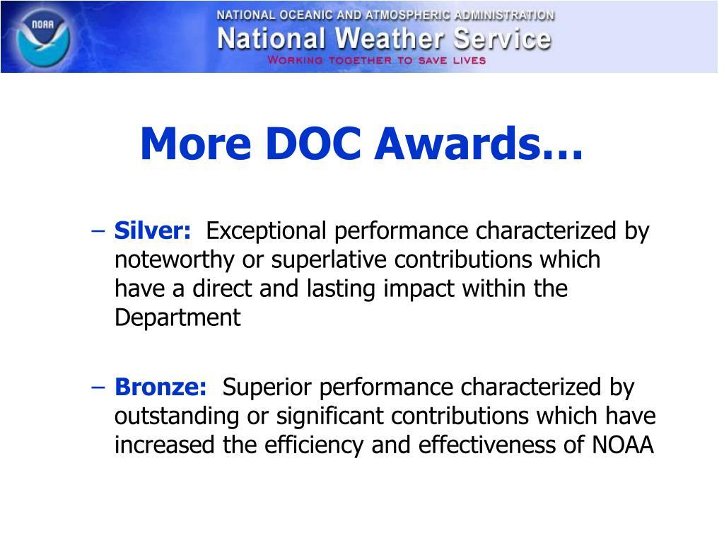 More DOC Awards…