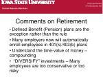 comments on retirement