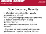 other voluntary benefits