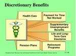 discretionary benefits
