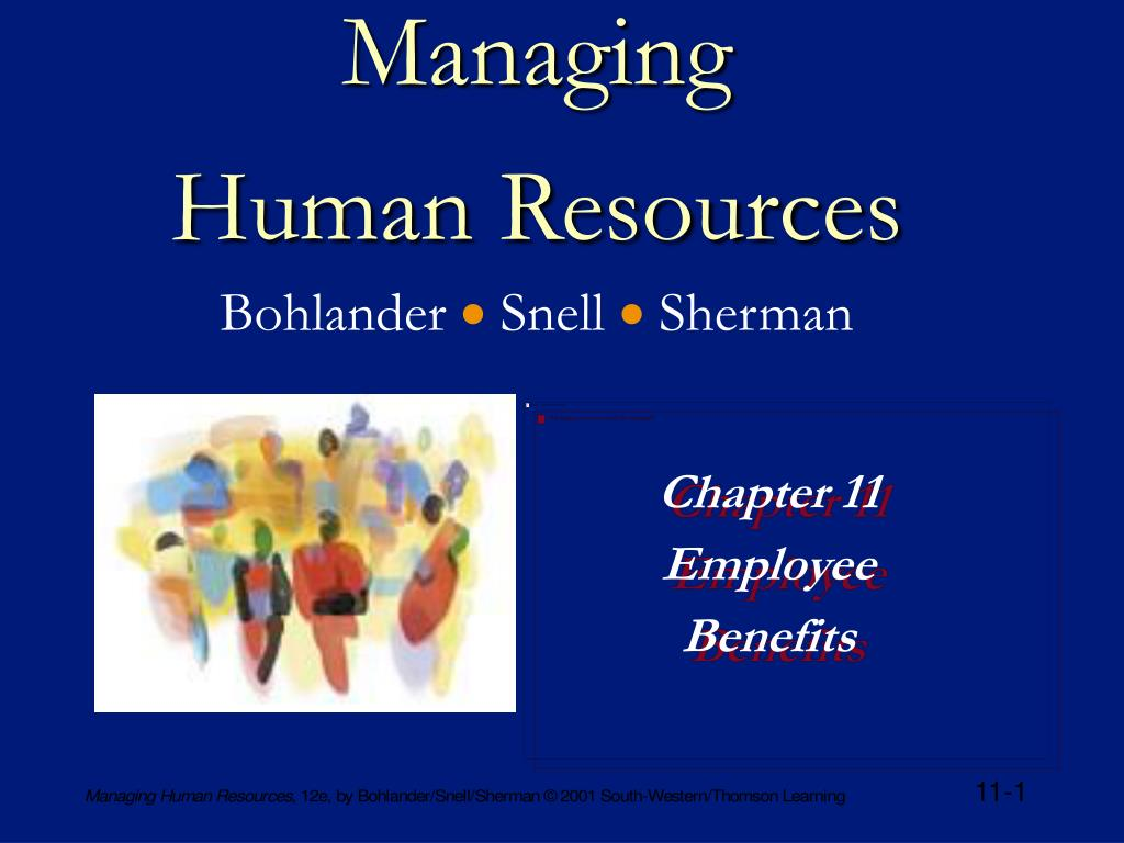 managing human resources bohlander snell sherman l.