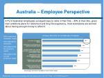 australia employee perspective