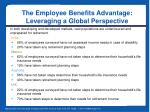 the employee benefits advantage leveraging a global perspective4