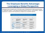 the employee benefits advantage leveraging a global perspective6