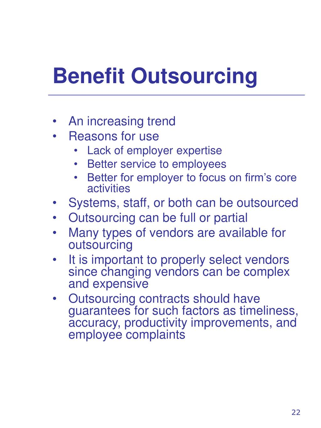 Benefit Outsourcing