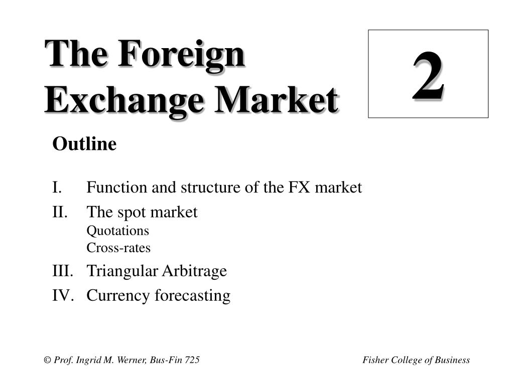 an overview of the foreign exchange market
