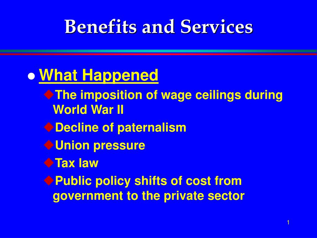 benefits and services l.
