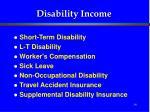 disability income