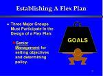establishing a flex plan