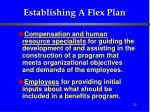 establishing a flex plan32