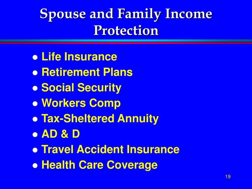 Spouse and Family Income