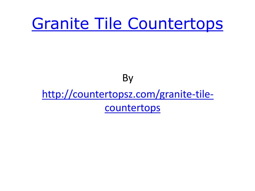 granite tile countertops l.