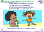 what are little girls and boys made of