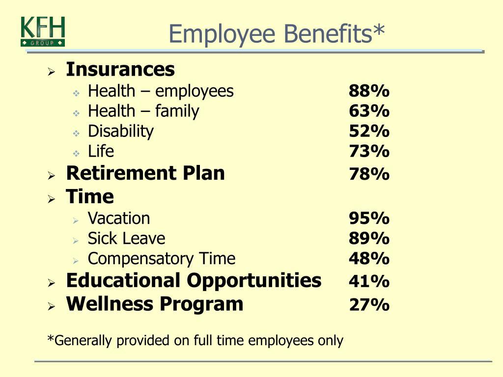 Employee Benefits*