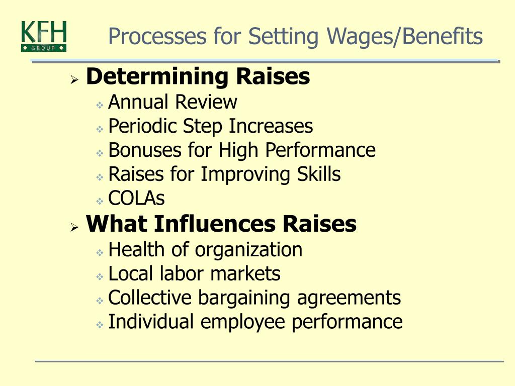 Processes for Setting Wages/Benefits