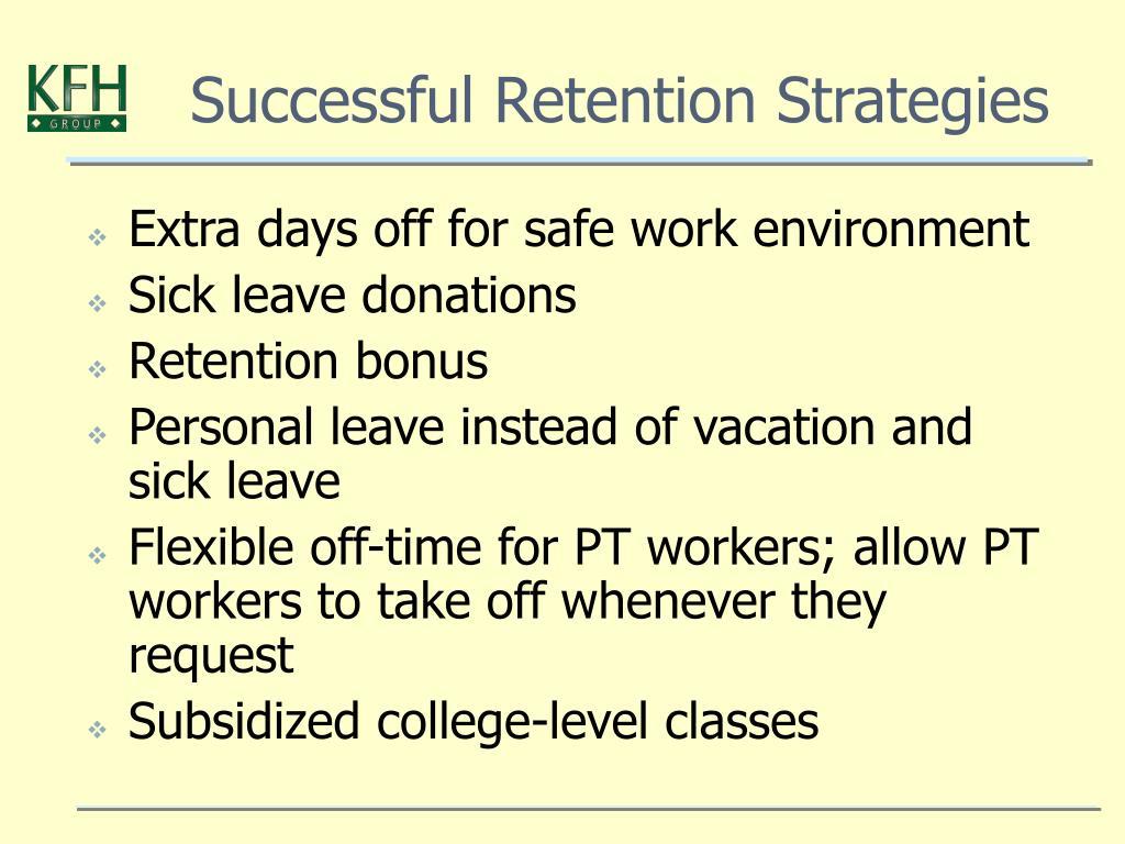 Successful Retention Strategies