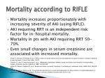 mortality according to rifle
