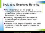 evaluating employee benefits